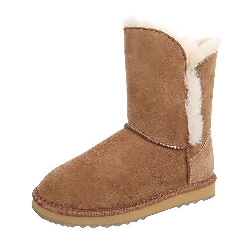 Ital-Design WoMen Slouch Boots Camel