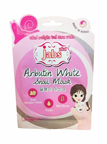 [2 mask sheets of Jabs, Arbutin White Snail Mask. Sanail Secretion Filtrate, Arbutin, Beta Glucan. Made in] (Honey Bee Costume Face Paint)