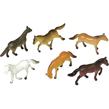 US Toy Mini Horses Action Figure 1 Dozen