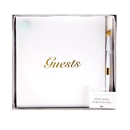 Darice Bulk Buy DIY Crafts Guest Book with Pen White