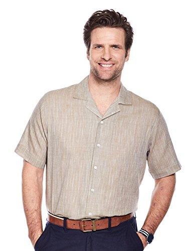 Pegasus Mens Strawtex Revere Collar Shirt Beige Medium - Revere Collar