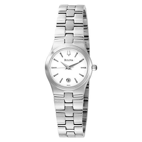Bulova Womens 96M102 Bracelet White Dial Watch (Renewed) ()