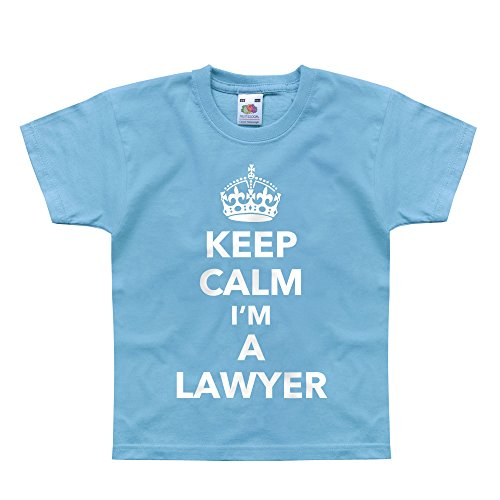 Price comparison product image Nutees Keep Calm I'm A Lawyer Profession Law Unisex Kids T Shirts - Light Blue 12 / 13 Years