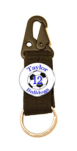 fan products of Soccer belt belt loop keyring with personalized button