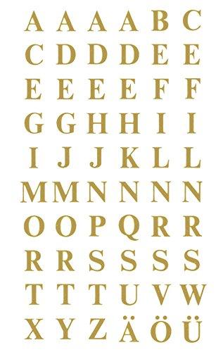 Avery Zweckform 3727 Buchstaben Etiketten, A-Z 7,5mm (Folie, starker Halt), 120 Aufkleber