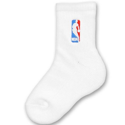 For Bare Feet NBA Logoman Youth Socks 2 Pack - White