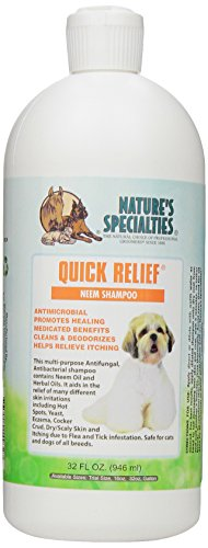 Nature's Specialties Quick Relief Neem Shampoo for Pets, 32-Ounce ()
