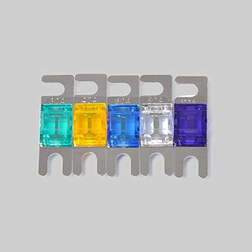 5 Pcs 30//40//60//80//100A Mini ANL Bolt Fork Fuse Kit Car Audio Circuit Breaker Cloverclover