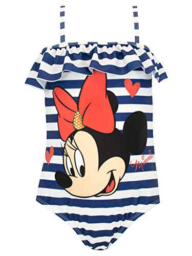Disney Girls' Minnie Mouse Swimsuit Size 8 Blue]()