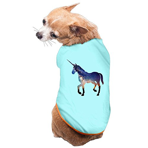 NUBIA Puppy Unicorn Horse New Style Costume T-shirt SkyBlue Size (New Dog History T-shirt)