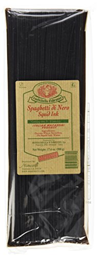 Rustichella D' Abruzzo Durum Wheat Squid Ink Spaghetti Di Nero Pasta 17.6 Oz (Pack of 2)