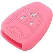 SEGADEN Silicone Cover Skin Jacket fit for CHRYSLER DODGE JEEP Remote Key CV4751 Pink