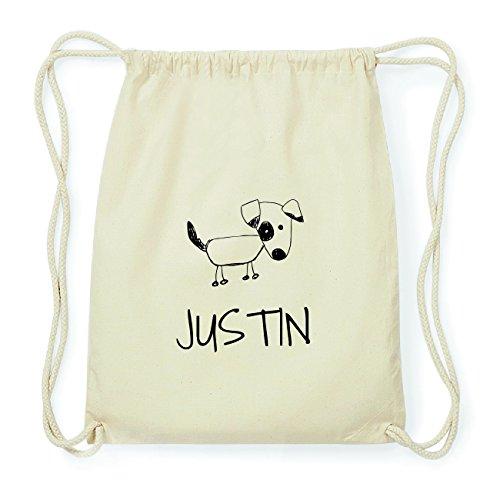 JOllipets JUSTIN Hipster Turnbeutel Tasche Rucksack aus Baumwolle Design: Hund