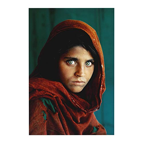 Afghan Girl Famous Photography Poster Print Wall Decor 24x36 Inches Photo Paper Material -