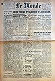 MONDE (LE) N? 4069 du 21-02-1958 la mise en oeuvre de la procedure de bons offices - washington designe robert murphy comme son representant - londres n'exclut pas une discussion sur le statut de bizerte de pan-mum-jom au plan rapacki a beja pres de tunis - visite a la ferme aux soldats, ou les combattants de l'a.l.n. sont baptises refugies par herreman la zone interdite et la rebellion algerienne l'attitude de l'opinion americaine complique la tache de murphy par pierre entretien sukarno - h...