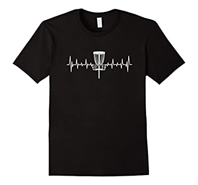 Funny Heartbeat Disc Golf Basket love of the sport T-shirt