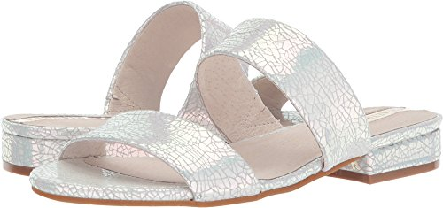 Suede Sandals Kenneth Cole (Kenneth Cole New York Women's Viola Double Band Flat Sandal, Ice, 8 M US)
