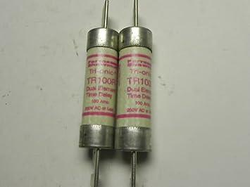 RK5 Fuses- 3 100R600RK5 Match Set of 100 Amp 1 Time Delay TRS100R 600 Volt