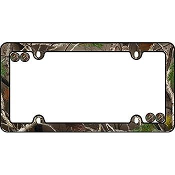 Amazon.com: Hunting Theme License Plate Frame - Camo - Browning ...