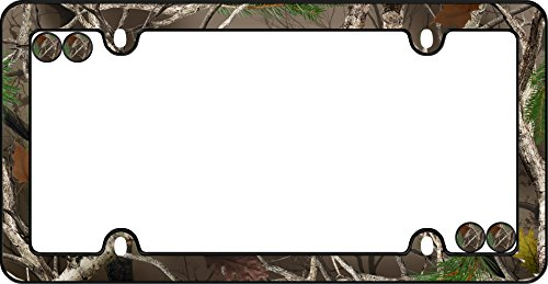 Cruiser Accessories 23095 Black Camo License Plate Frame with Fastener Caps (Performance Accessories Frame)