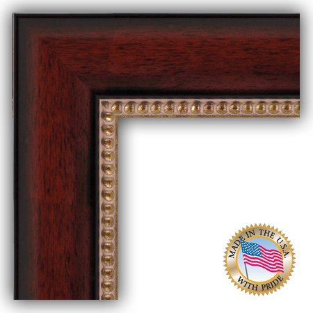 ArtToFrames 13x19 inch Cherry Slope with Dark Gold Edges Wood Picture Frame, WOMD10488-13x19