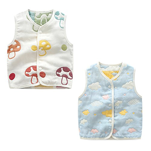 59a952adb Luyusbaby Baby Cotton Warm Vests Unisex Infant to Toddler Colorful ...