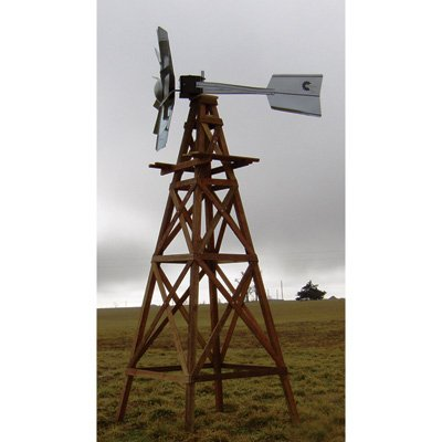 Outdoor Water Solutions Wooden Aeration Windmill, Model# WTW0110