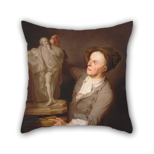 Uloveme Oil Painting Adrien Carpentiers - Louis-Francois Roubiliac Modelling His Monument To Shakespeare Pillow Covers ,best For Teens,relatives,home Office,couch,floor,teens 18 X 18 Inches / 45 (Hunter And Deer Costume)