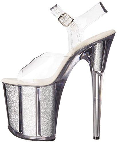 Sandales Pleaser Femme Clr Plateforme Flamingo Gltr slv 808g aqqpwRExFZ