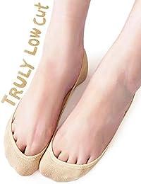 4 Pairs TRULY No Show Socks Women - Cotton Ultra Low Cut Socks Flats