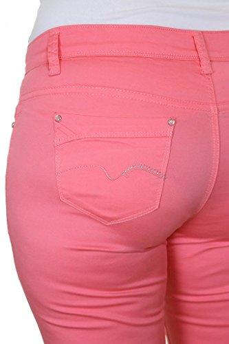 (1442-1) ¾ Rose Jeans recortadas para Tall Extensible