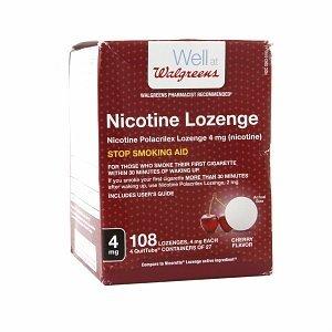 Walgreens Nicotine Lozenge, Cherry Flavor, 4mg, 108 count