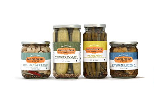 Picnic Pickles Gift Pack (4-pack) - variety of snackable pickles and pickled veggies