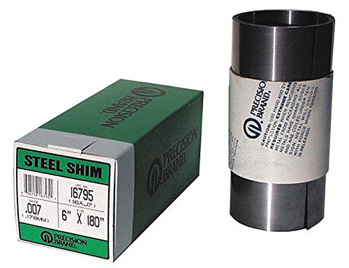 "Steel Shim Stock Rolls - 16a10 .010 steel shimstock 6""x100"""