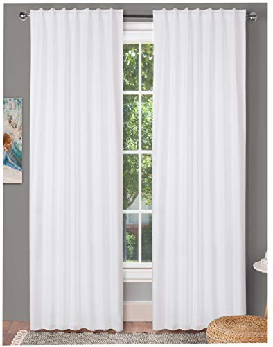 Farm White - Farm House Curtain-Cotton Textured Slub fabric 50x84 -White, Cotton Curtains,2 Panels Curtain,Tab Top curtains,Room Darkening Drapes,Curtains For Bedroom,Curtains For Living Room,Curtains Set of 2