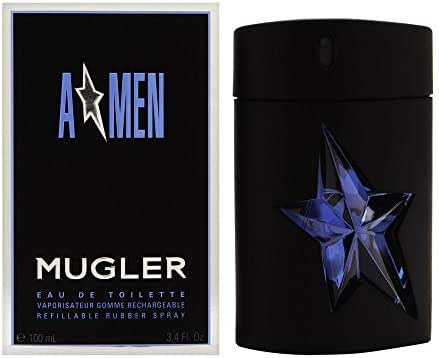 AMEN Eau De Toilette By Thierry Mugler Refillable Rubber Spray, 3.4 Fl. Oz.