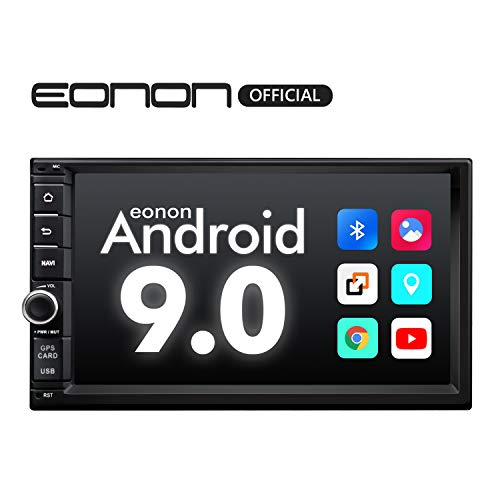 Car Stereo,Double Din Car Stereo with Bluetooth 5.0, Eonon7 Inch Android 9.0 Car Radio Support Android Auto/Apple Carplay/WiFi/Fast Boot/Backup Camera/OBDII- (NO DVD/CD)- GA2176 (Best Android Auto Head Unit)