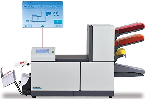 FORMAX FD 6204-Advanced 2 Folder Inserter with Two Sheet Feeders and One Automatic Insert/BRE Feeder, Up to 325 sheets or approx. 45 BRE's, Up to 2200 pieces per hour, Up to 15000 pieces per month