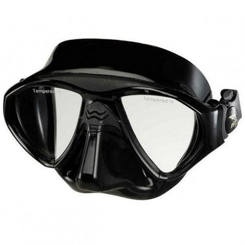 IST M99 Seal Twin Lens Dive Mask (Black/Black) by IST