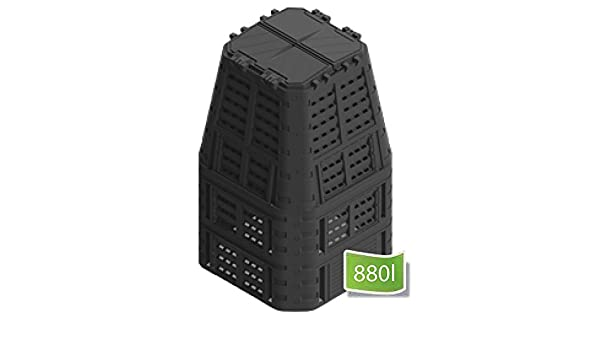 Wamat Compostador Rápido 420 - 880 L compostador termocompostador (compostador Bio.: Amazon.es: Jardín