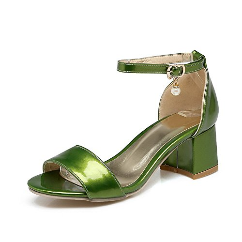 1TO9 Womens Non-Marking Mini-Size Solid Urethane Sandals MJS03257 Green Y3K2JXs