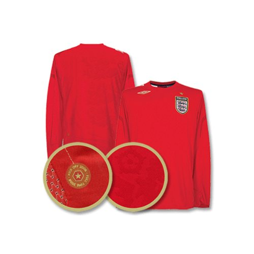 England 06-08 Away LS Jersey (Umbro Long Sleeve)