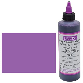 Amazon.com : Neon Purple Premium Airbrush Color 8 oz : Grocery ...