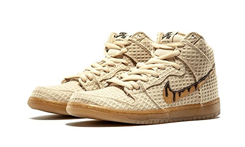 Nike Dunk High Premium SB Waffle Flat Gold Classic Brown