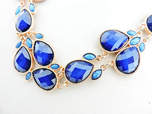 Firstmeet Shiny Resin Drill Collar Necklace with Earrings - http://coolthings.us