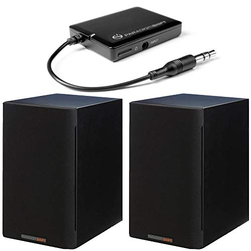 (Paradigm Bundle: Shift A2 Powered Bookshelf Speakers (Storm Black Satin - Pair) and BD1 Bluetooth Receiver)