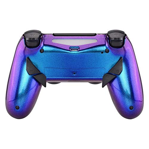 eXtremeRate Dawn Programable Remap Kit for PS4 Controller with Mod Chip & Redesigned Back Shell & 4 Back Buttons - Compatible with JDM-040/050/055 - Chameleon Purple Blue (Color: Chameleon Purple Blue)