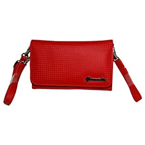 Gomadic Red Women Purse Case for the Samsung EPIX – Hand and Shoulder Straps Included