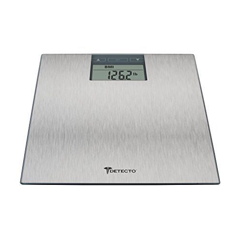 Detecto D1300400US D130 Stainless Steel LCD Digital Scale with BMI Estimator, Multicolor (Balance Scale Detecto Beam)