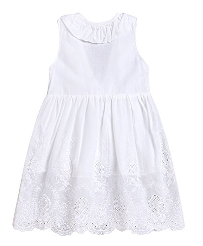Seven Young Toddler Girls Plaid Tutu Dress Kids Summer Ruffle Backless Skirt Yellow Lattice A-Line Princess Dress (White, 1 T) -